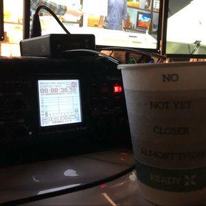 Caffeinated in the studio